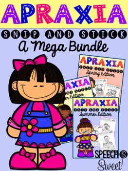 Apraxia: Snip and Stick Bundle for Speech Therapy
