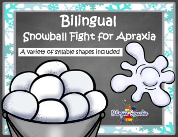 Apraxia Snowball Fight- Spanish