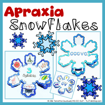 Apraxia Snowflake: Snowflake Crafts for Apraxia