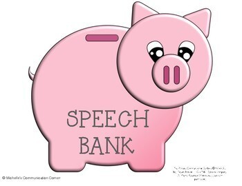 Apraxia of Speech Piggy Bank