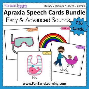 Apraxia Speech Cards Bundle
