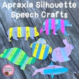 Apraxia Speech Silhouette Crafts {vowel sound craftivities}