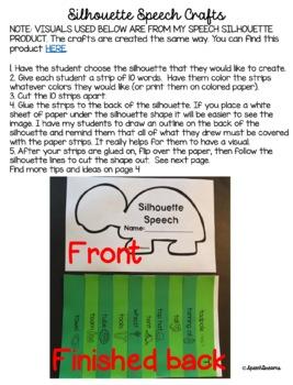 Apraxia Speech Silhouette Crafts {vowel sound craftivities}