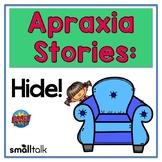 Apraxia Stories: Hide!  Interactive Digital BOOM CARDS™ Deck