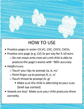 Apraxia Summer Packet