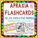 Speech Therapy: Apraxia Flash Cards: CV, VC, CVCV & CVC