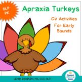Apraxia Turkeys: Thanksgiving CV activities
