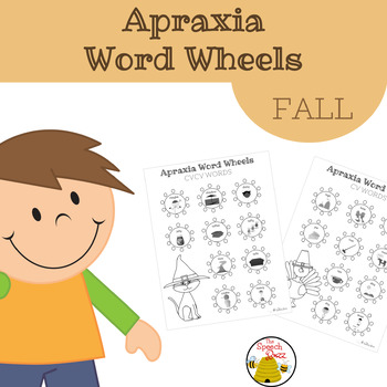 Apraxia Word Wheels - FALL
