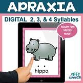 Apraxia digital flash cards CVCV, CVCVCV, and more! No print No Prep