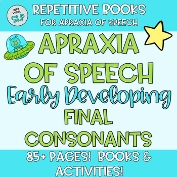 Apraxia of Speech BUNDLE Early Developing Consonants Articulation Speech Therapy