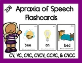 Apraxia of Speech Flashcards: 208 Cards for CV, VC, CVC, C