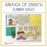 Apraxia of Speech Low Prep Summer Things activity mats
