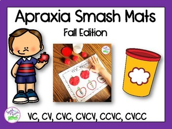 Apraxia of Speech Smash Mats: Fall Edition