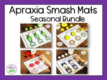 Apraxia of Speech Smash Mats: Seasonal Bundle