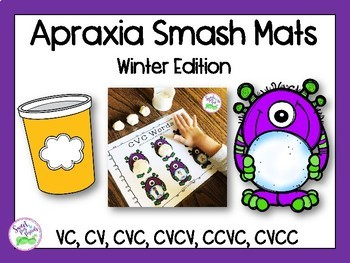 Apraxia of Speech Smash Mats: Winter Edition