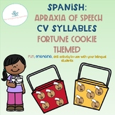 Apraxia of Speech: Spanish CV Syllables Fortune Cookies