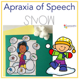 Apraxia of Speech {Winter snow} smash mats