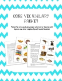 Apraxia treatment: core vocabulary approach
