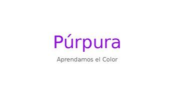 Aprendamos español - L2 - Revisión de color púrpura y primario