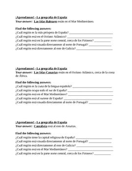 Aprendamos la Geografia de Espana