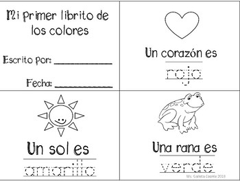 Aprende Los colores español Learn the colors Spanish and bilingual flash  cards