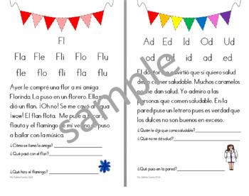 Cartilla fonética Aprende a leer español plan anual learn to read Spanish