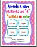 Aprende a leer: palabras con a -silabas en color