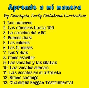 13 MPS songs: Aprende a mi manera (Música para la educación infantil)