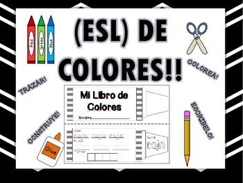 Aprende los COLORES! (SPANISH-ESL) LIBRO INTERACTIVO