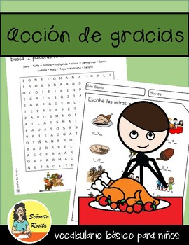 Spanish Thanksgiving. Aprende vocabulario: Acción de Gracias