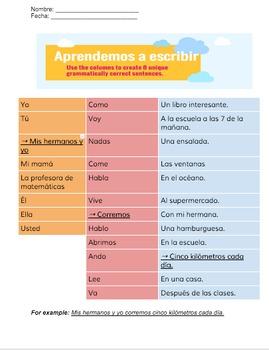 Aprendemos a escribir - Learning to write - Beginner Spanish