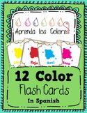Aprenda los Colores - Colors in Spanish Flash Cards