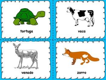 Aprendiendo Animales y Frutas en Español - Learning Animales & Fruits in Spanish