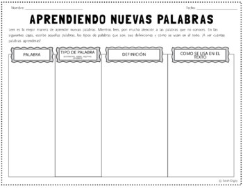 Aprendiendo Nuevas Palabras: Spanish WS for Learning New Words While Reading