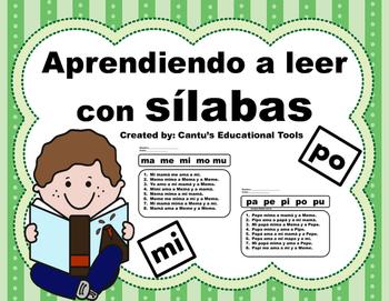 Aprendiendo a leer con silabas - Fluidez