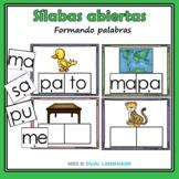Las sílabas abiertas I Spanish Syllable Activities