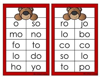 Aprendiendo a leer sílabas y palabras con la letra o