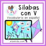 Aprendiendo las silabas con v | Vocabulario en español | B