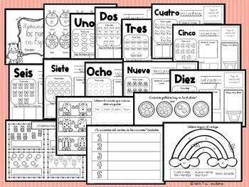 Aprendiendo los números en Español - Learning Spanish Numbers 0-10