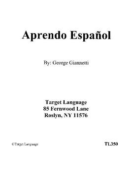 Aprendo Espanol Book 1 - Grades 4-6