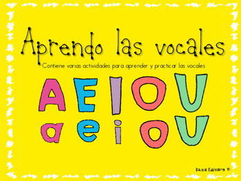Aprendo las vocales | Vowels in spanish