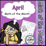 April Math Worksheets Spring Themed  Easter Math Daily Math April Activities