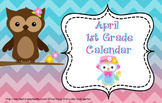 April 1st Grade Calendar for ActivBoard