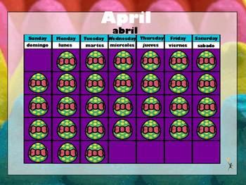 April 2013 ActivInspire Calendar Page