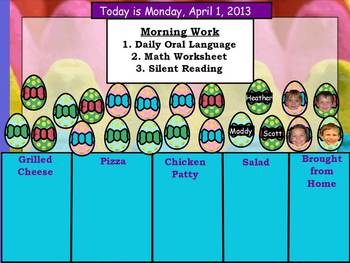 April 2013 ActivInspire Lunch Count and Attendance Page