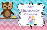 April Kindergarten Calendar for ActivBoard