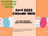 April 2018 Calendar math for the Promethean Board (ActivBoard)