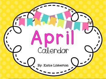 April Kindergarten 2017 ActivInspire Calendar
