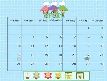 April 2018 Activboard Calendar Activities