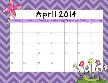 April 2014 Calendar Freebie!!